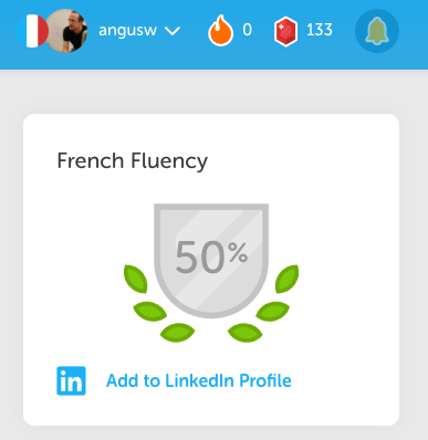 "That's pretty optimistic given I can't say ""that's pretty optimistic"" in French yet"