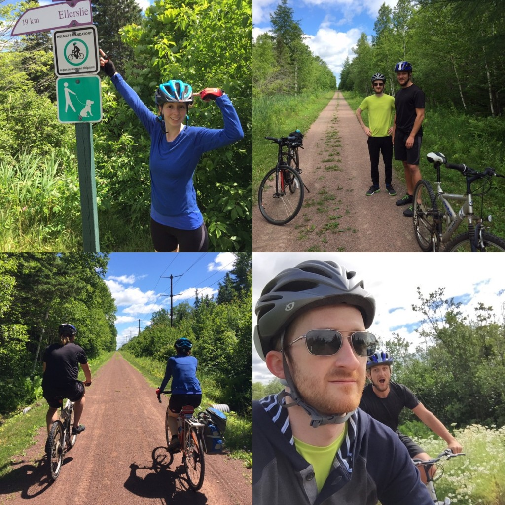 """Biking the Confederation Trail. Not shown: the dorky certificate you get for riding on it that you have to go to the visitor info centre to pick up that we actually went and got. """"We don't give out many of these,"""" the nice lady at the counter said. I'm gonna frame mine."""