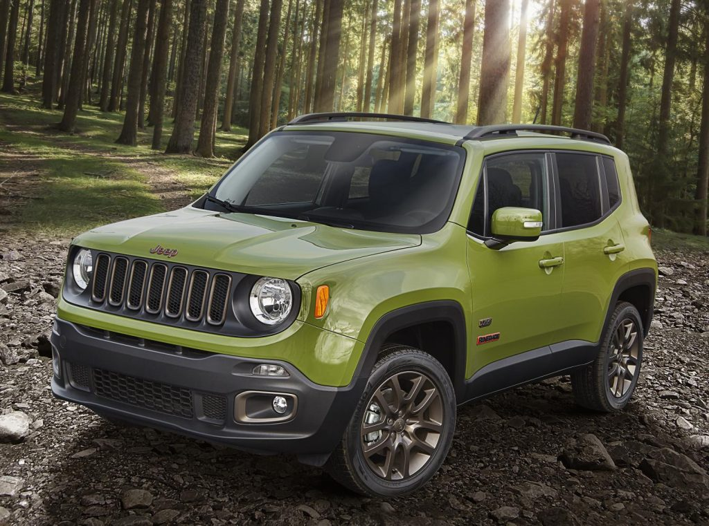 2016 Jeep Renegade in Jungle Green. There aren't enough bright green cars in the world.