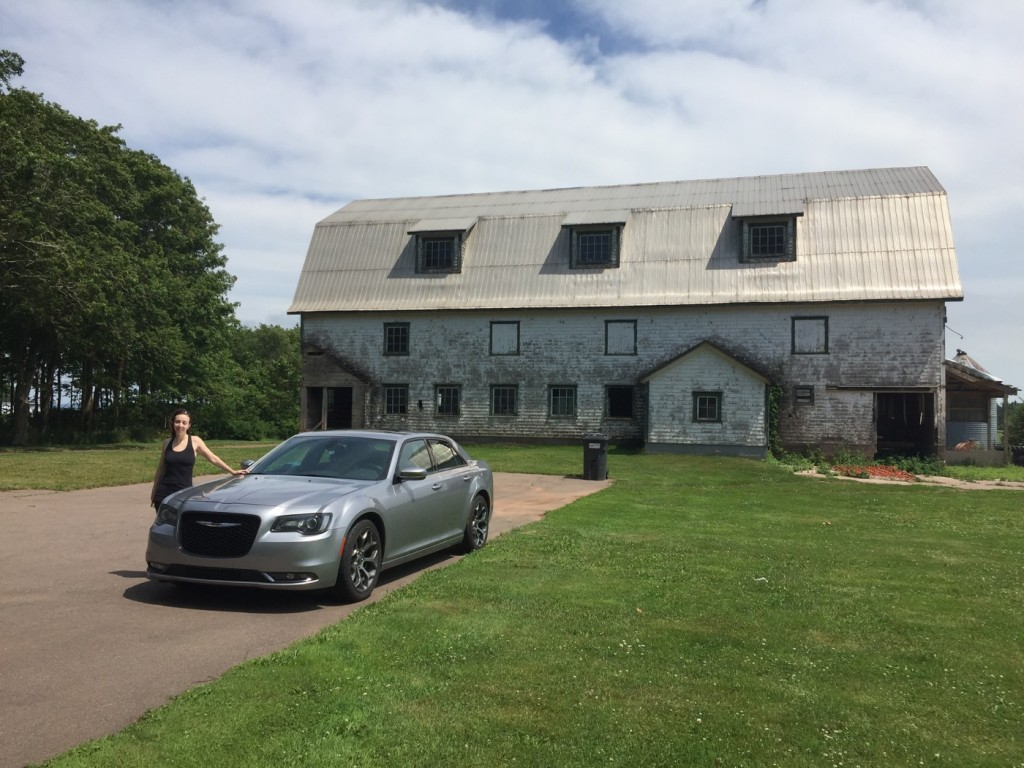 300 + barn + woman in PEI. As someone put it, 'That's the least Angus-like car you could have driven'