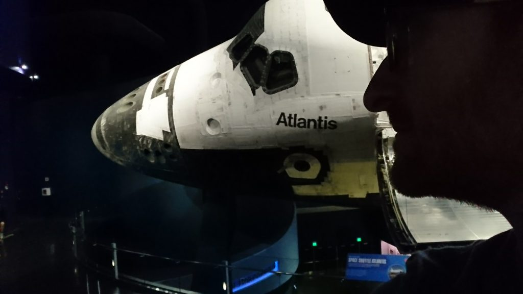 Space Shuttle Atlantis' Nose and My Nose