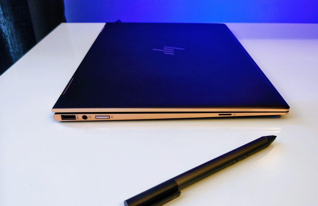 hp spectre x360 late 2017 13 copper ash closed with pen